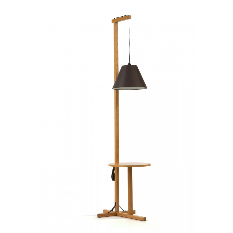 Usk Combined Floor Lamp & Table