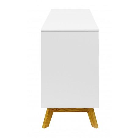Kensal White Nordic Sideboard | Sliding Doors