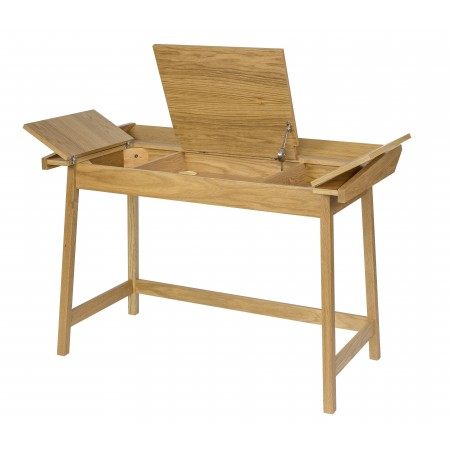 Baron 3 Flaptop Oak Desk