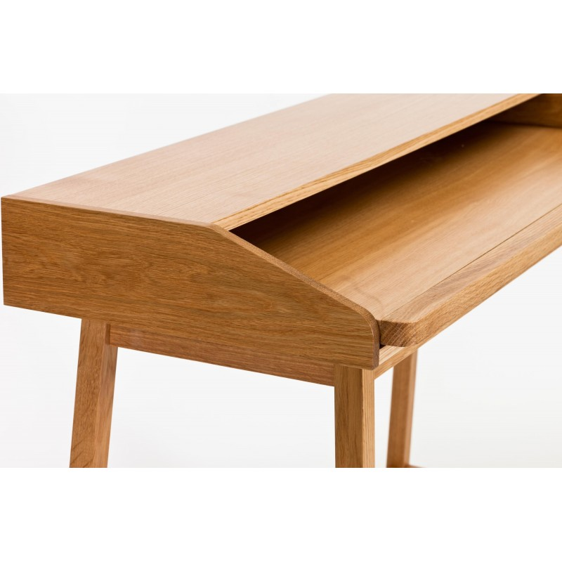 St James Compact Oak Desk | Pull-Out Surface