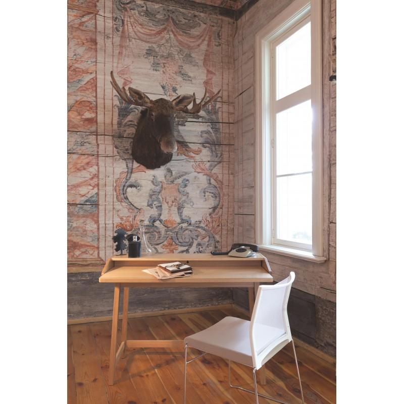 St James Compact Oak Desk   Pull-Out Surface