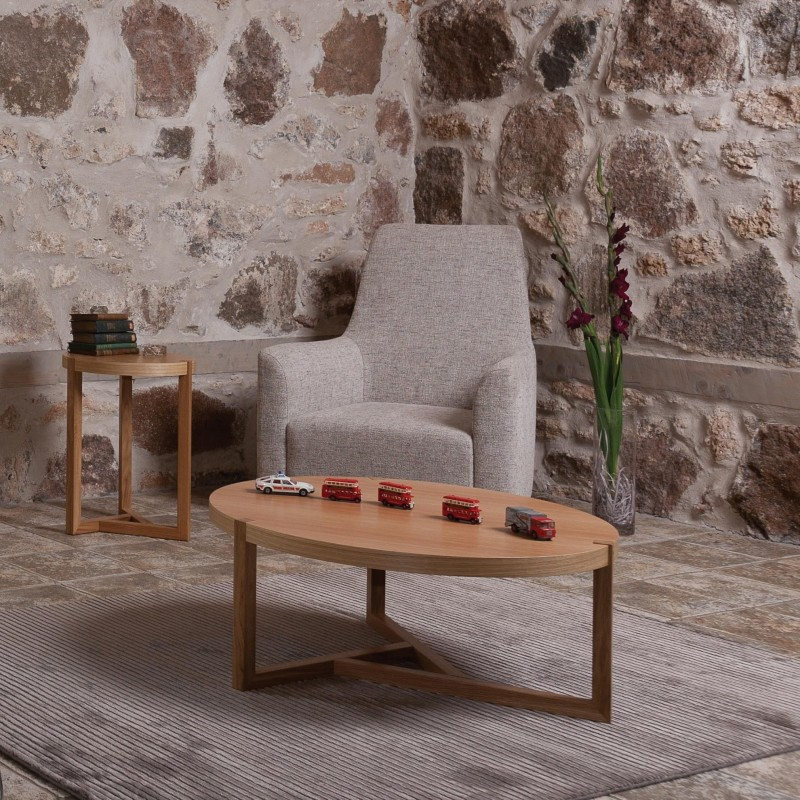 Brentwood Round Oak Coffee Table