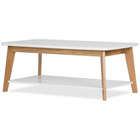 Kensal 450 Nordic Oak White Coffee Table