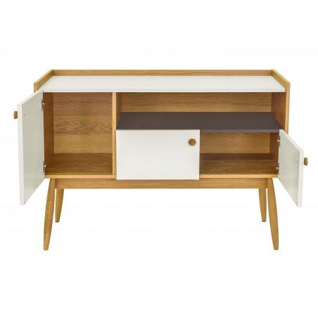 Farsta 2 Drawer White Oak Sideboard