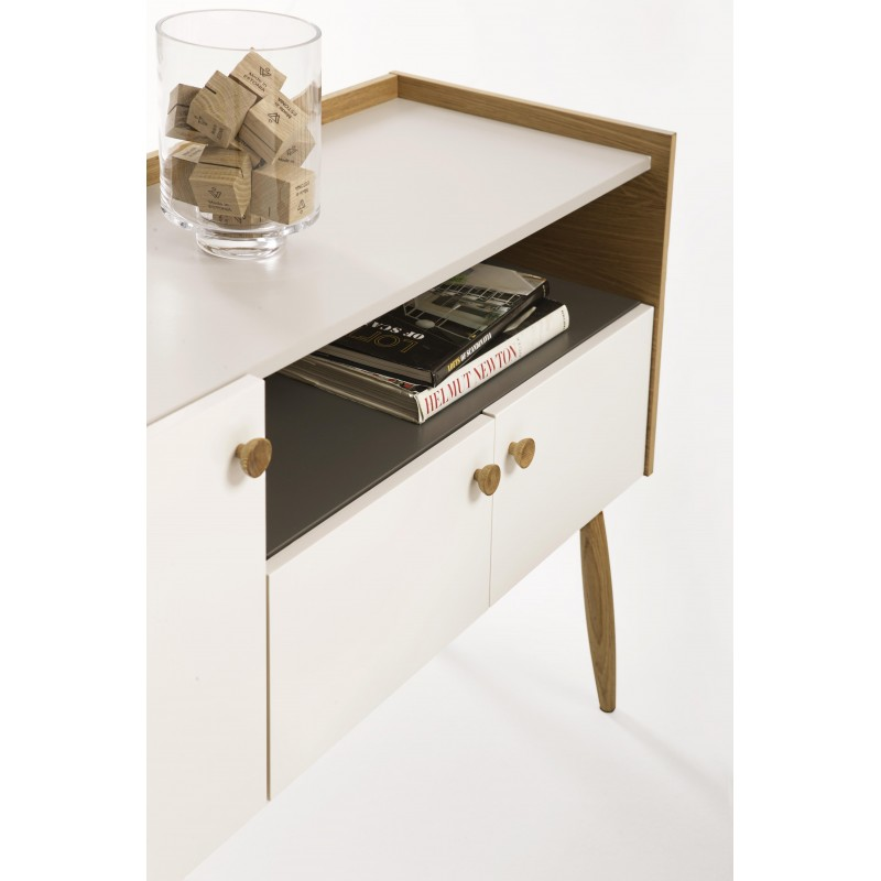 Farsta 2 Drawer White Oak Sideboard