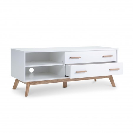 Kensal Nordic Oak White TV Media Unit
