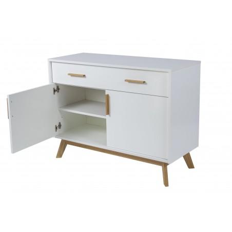 Kensal Nordic Compact White Oak Sideboard