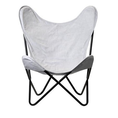 Bloomingville Grey Butterfly Chair
