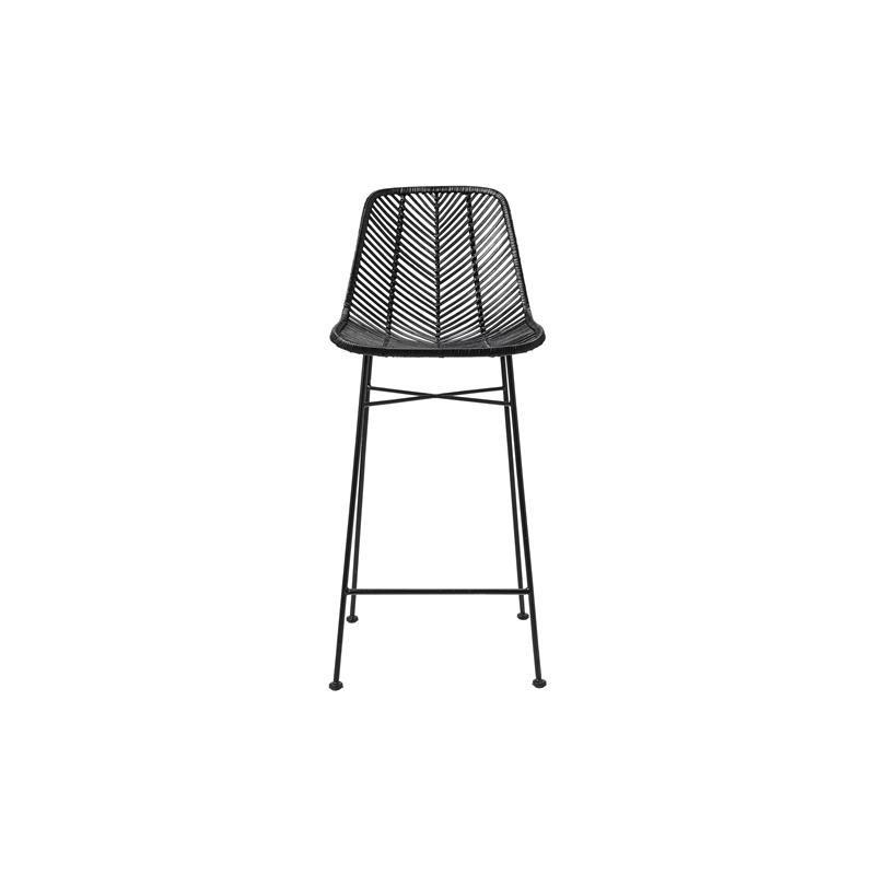 Bloomingville Bar Stool Black with Black Legs Seat