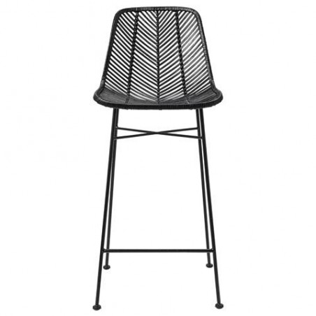 Bloomingville Bar Stool Black with Black Legs Seat