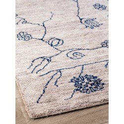 Massimo Afghan Wool Blue Grey Garden Rug