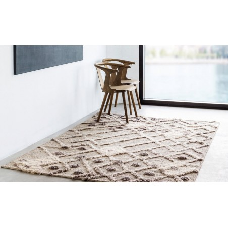 Massimo Afghan Natural Wool Bur-Bur Rug