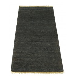 Massimo Black Sumace Hemp Rug with Fringes| 3 Sizes