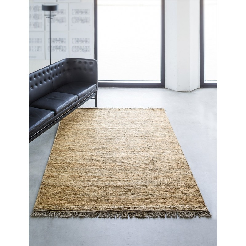 Massimo Natural Sumace Hemp Rug with Fringes| 3 Sizes