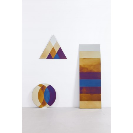 Transience Multicoloured Small Circle Mirror