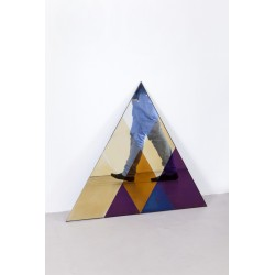 Transience Multicoloured Small Triangular Mirror