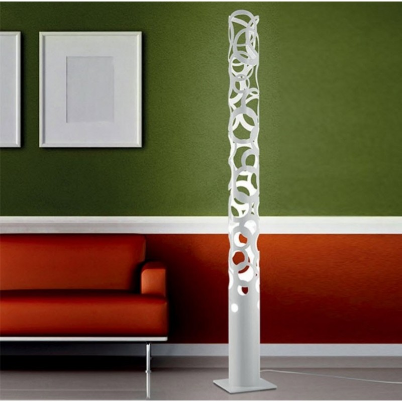 Gibas Thor Floor Lamp | White Black Gold Foil