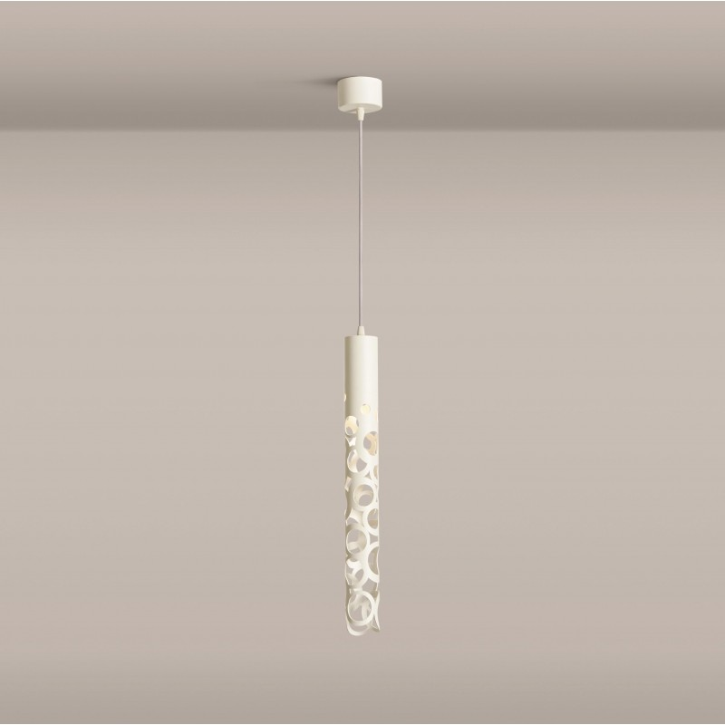Gibas Thor Pendant Lamp | White Black Gold Foil