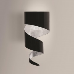 Gibas Remi Steel Wall Lamp   Silver or Gold Foil