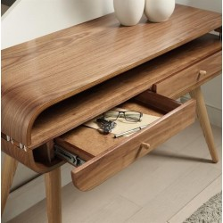 Alvar Walnut Console Table Solid Ash Legs