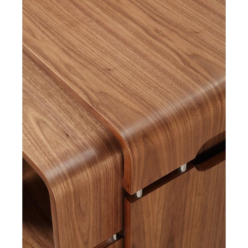 Alvar Walnut Console Table Solid Ash Legs