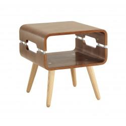 Alvar Walnut Side Table Solid Ash Legs