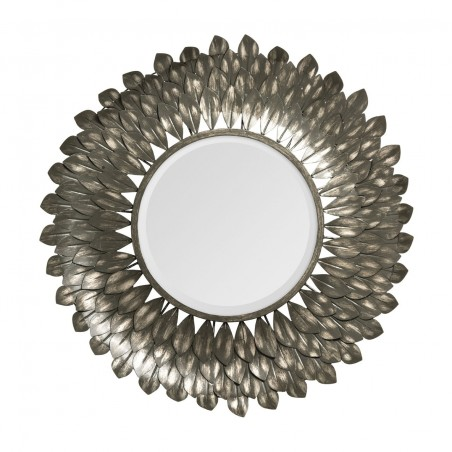 Mithras Gold Round Sun Rays Mirror