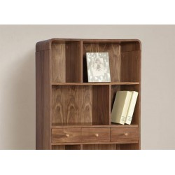Roth Walnut Bookcase with Spindle Legs