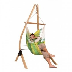 Hammock Chair Basic ORQUIDEA jungle + Wooden Stand for Hammock Chairs basic VELA