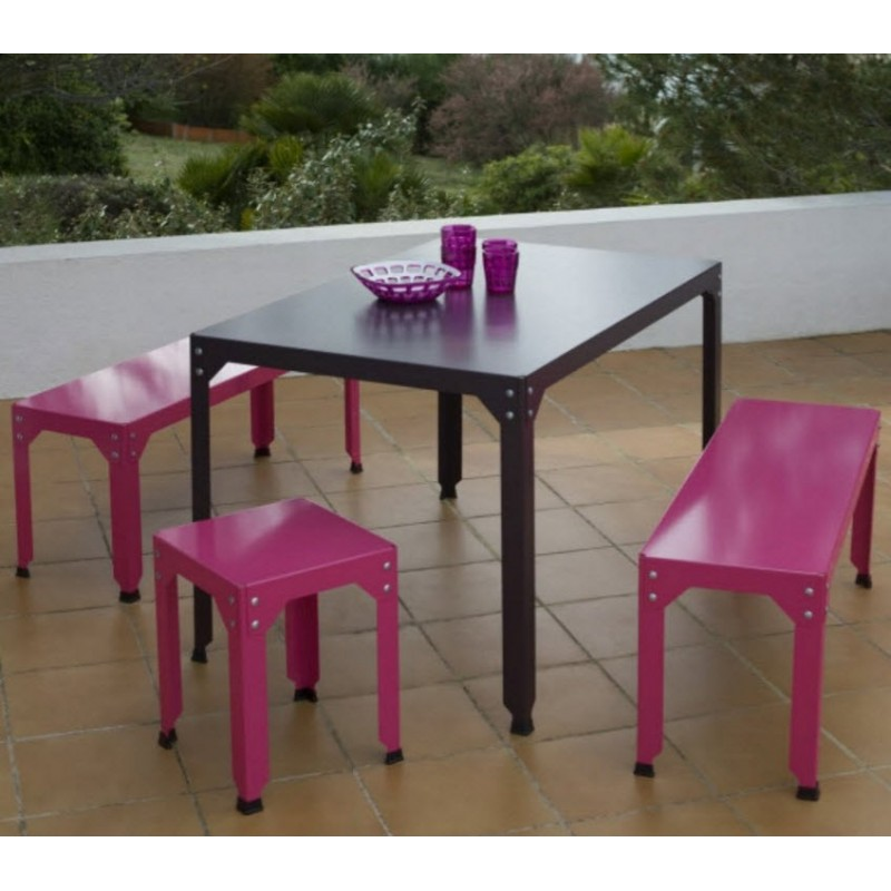 Hegoa Galvanised Steel Stool | 30 Colours | 3 Heights