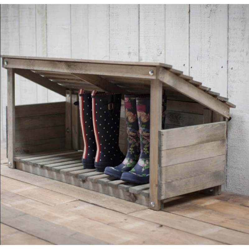 Wooden Outdoor Welly Store - Garden Trading