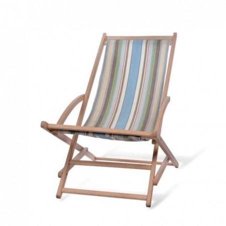 Beech Rocking Deck Chair - Suffolk Stripe