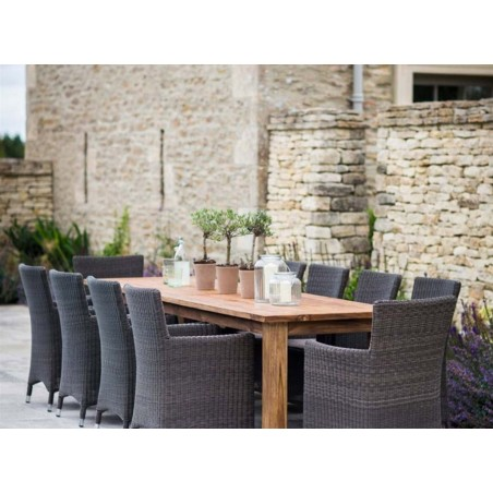 St Mawes 10 Seater Refectory Outdoor Table - Reclaimed Teak