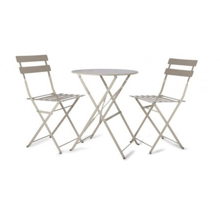 Bistro Garden Table Set with 2 Chairs in Clay