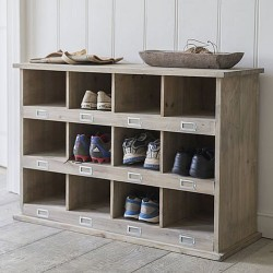 Large Chedworth Shoe Locker - 12 Cubby Holes