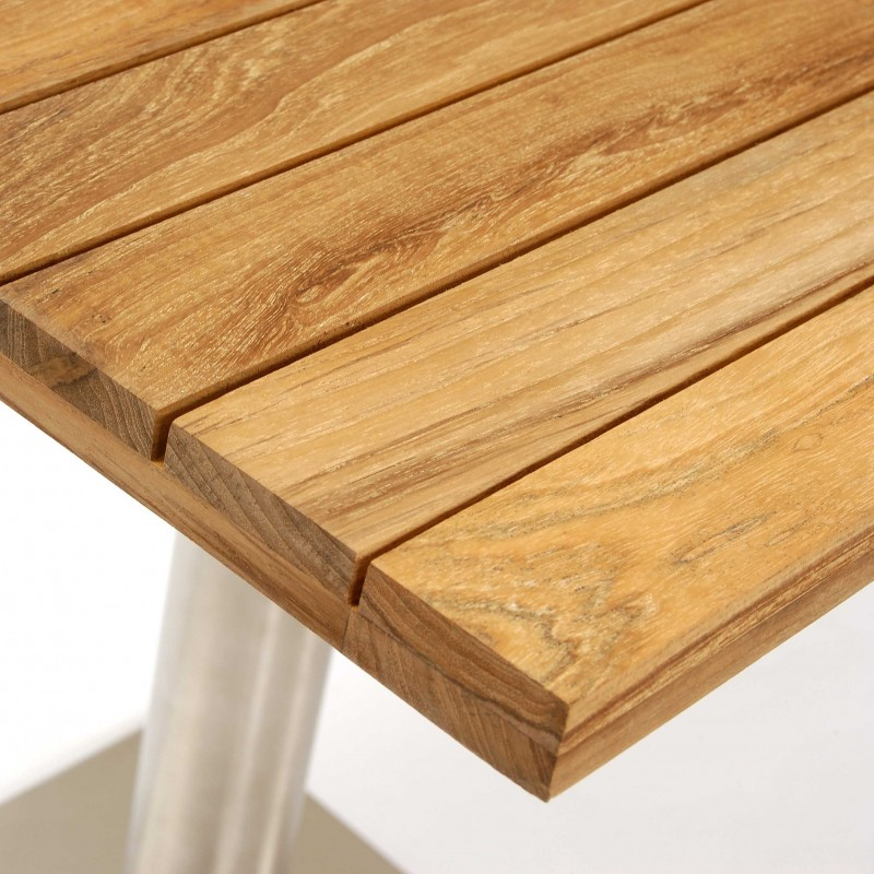 Positano Square Teak Pedestal Table