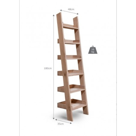 Hambledon Raw Oak Narrow Ladder Shelf