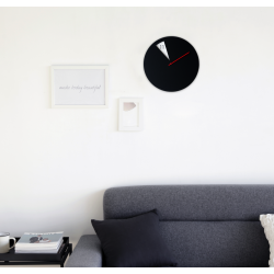 Freakish Wall Clock by Sabrina Fossi Design - Black