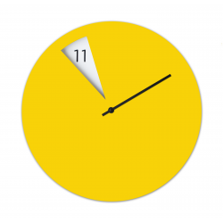 Freakish Wall Clock by Sabrina Fossi Design - Yellow