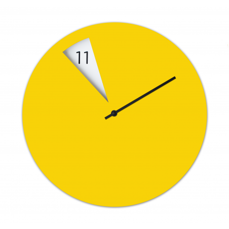 Freakish Wall Clock by Sabrina Fossi Design - Yellow