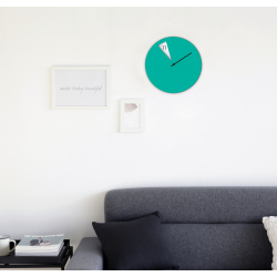 Freakish Wall Clock by Sabrina Fossi Design - Green