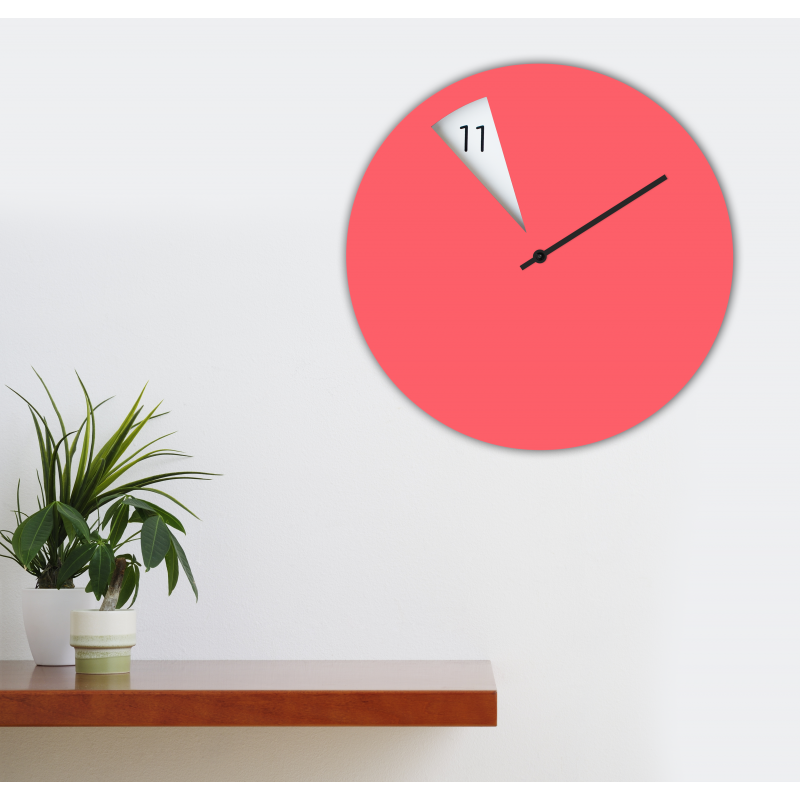 Freakish Wall Clock by Sabrina Fossi Design - Pink