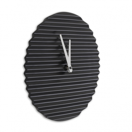 Sabrina Fossi Wave Wall Clock| Black | White Hand