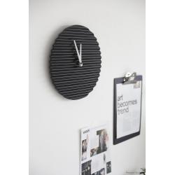 Sabrina Fossi Wave Wall Clock| Black | White Hand