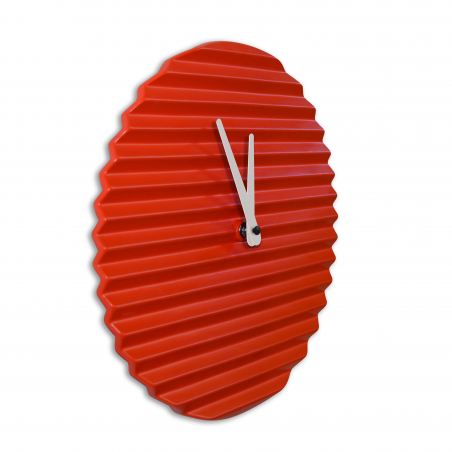 Wave Wall Clock by Sabrina Fossi Design - Red