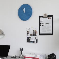 Wave Wall Clock by Sabrina Fossi Design - Cerulean Blue