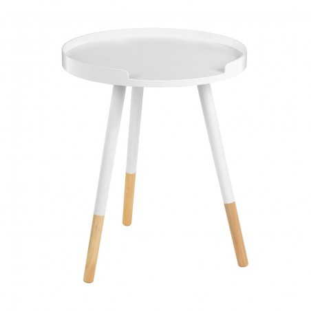 Varde White Scandanavian Style Side Table