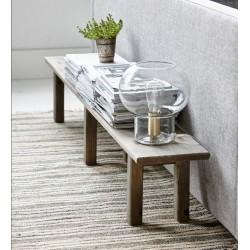 House Doctor Mush Glass & Brass Table Lamp