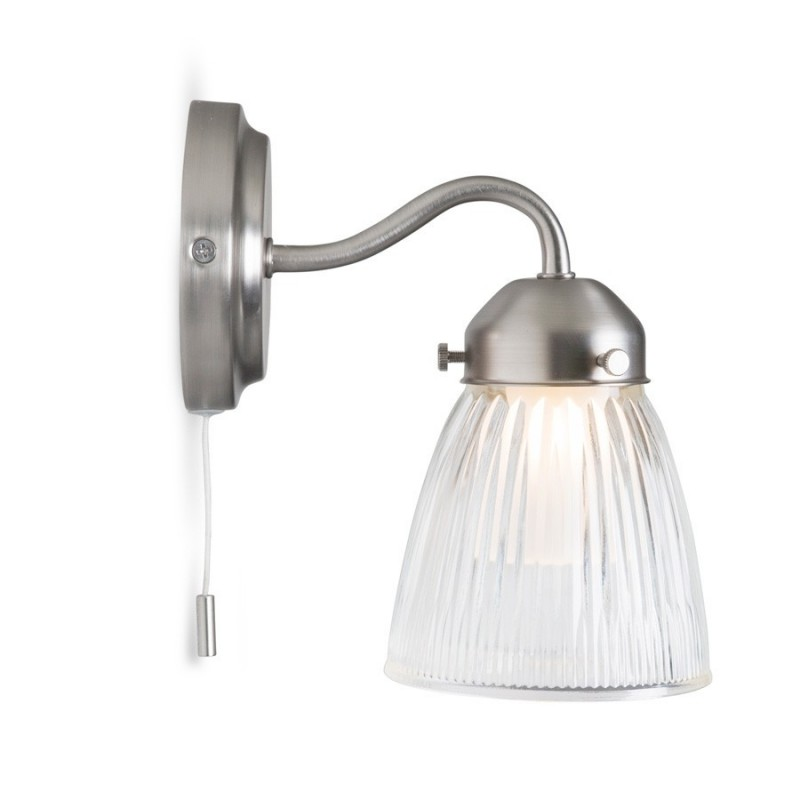 Pimlico Bathroom Wall Light with Glass Shade