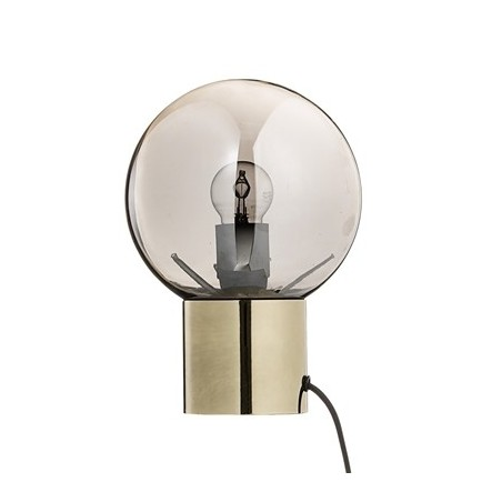 Bloomingville Table Lamp with Silver Glass and Gold Base